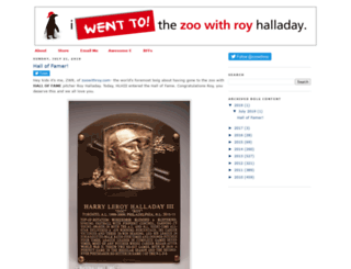 zoowithroy.com screenshot