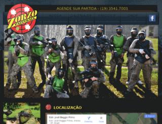 zorzopaintball.com.br screenshot