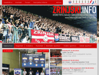 zrinjski.info screenshot