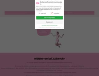 zuckerzahn.de screenshot