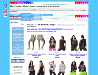 zumbashoponline.com screenshot