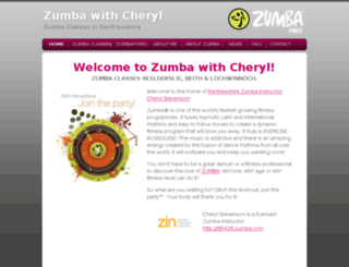 zumbawithcheryl.co.uk screenshot