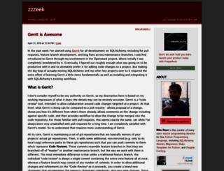 zzzeek.org screenshot