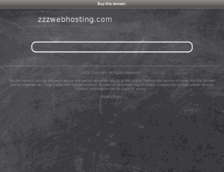 zzzwebhosting.com screenshot