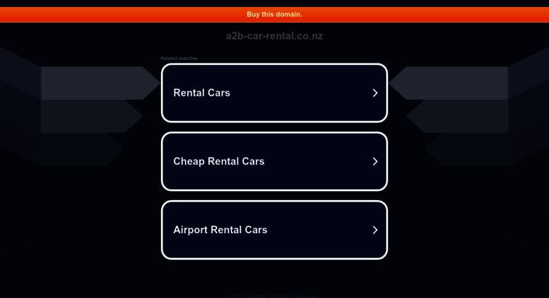 Access a2b-car-rental.co.nz. Cheap Car Hire New Zealand   A2B Car ...