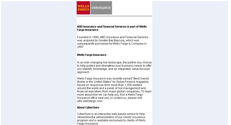 ABD Insurance And Financial Services Is Part Of Wells Fargo