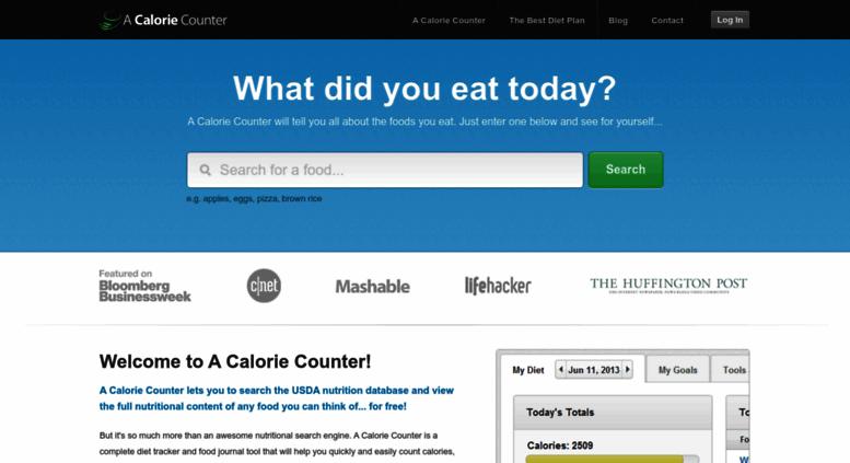 access acaloriecounter com a calorie counter free food journal