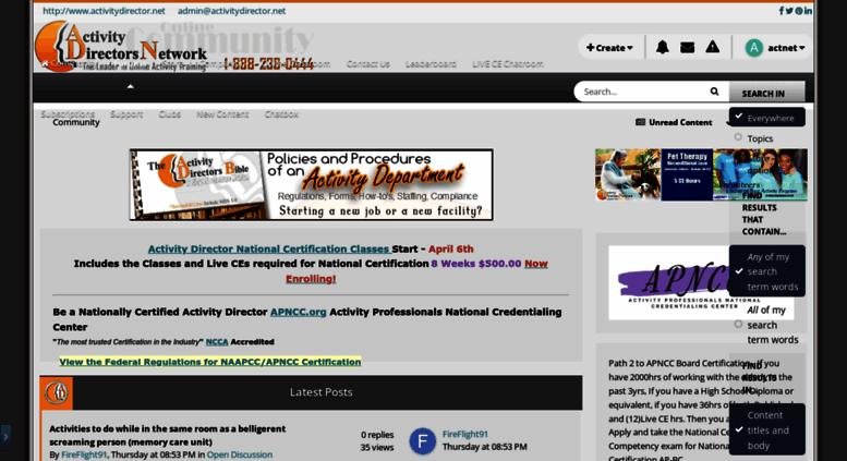 Access activitydirector.net. Activity Directors Network - Activities ...