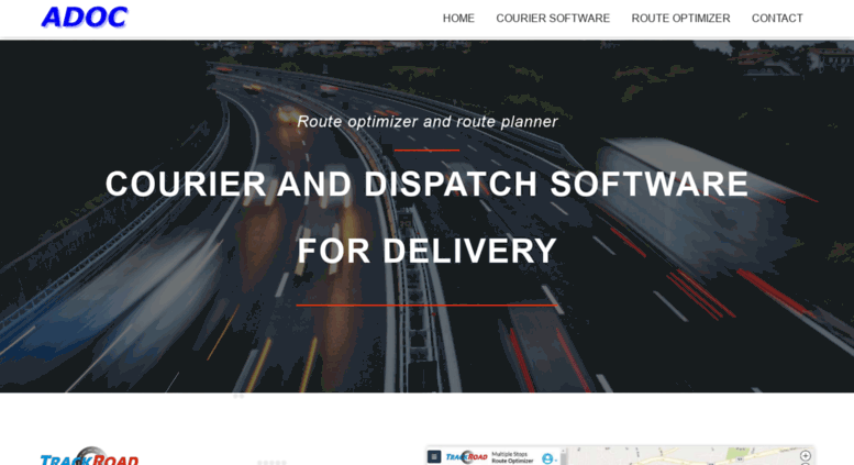 Adoc Courier Software And Dispatch For Vehicle Delivery Tracking GIS Mapping Component By ADOC