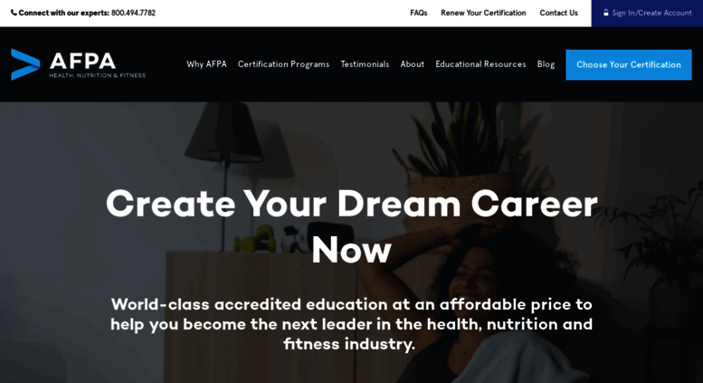 Access Afpafitness Personal Fitness Trainer Certification And