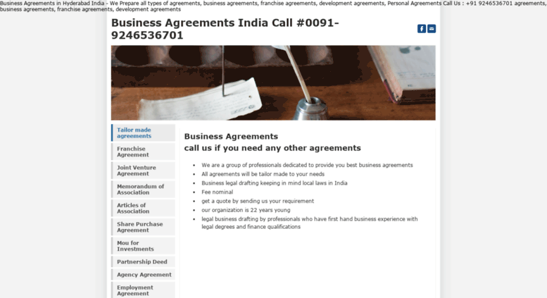 Access Agreement Business Agreements India Call 0091