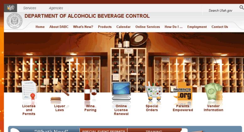 Access alcbev.state.ut.us. Utah Department of Alcoholic Beverage Control