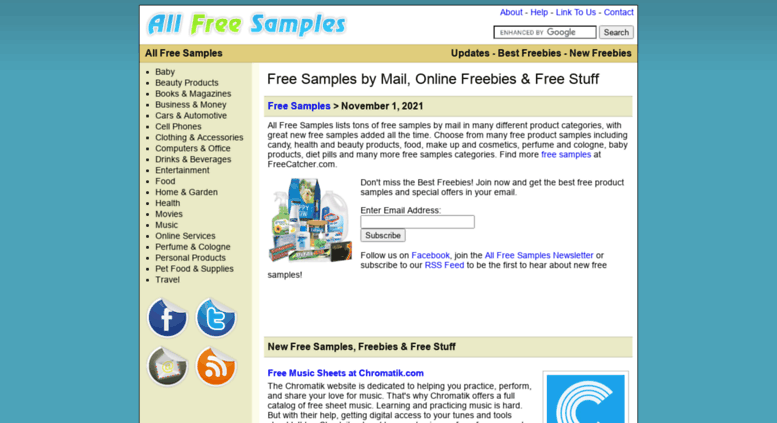 access all free samples com all free samples sample products by