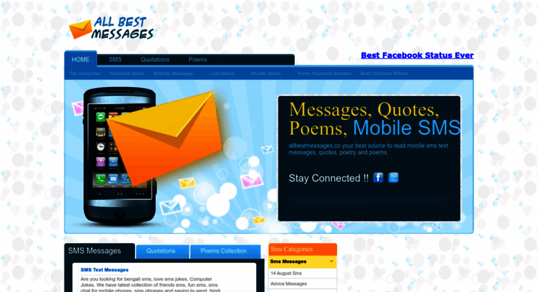 Access Allbestmessages Co Birthday Messages Love SMS Free Latest