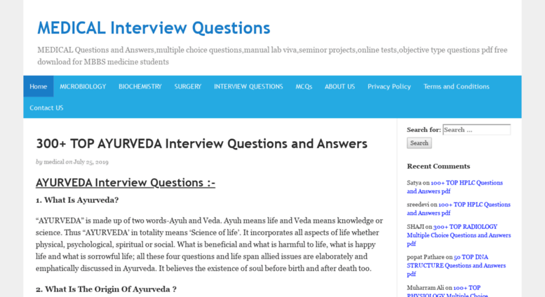 objective interview questions