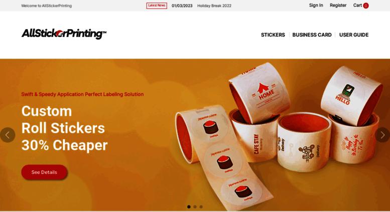 Access Allstickerprintingcom AllStickerPrinting Custom Sticker - Custom die cut stickers fast