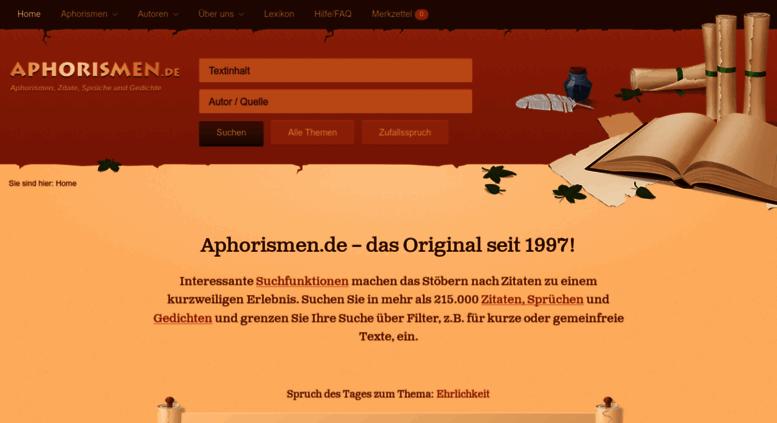 Bildergebnis für aphorismen.de logo