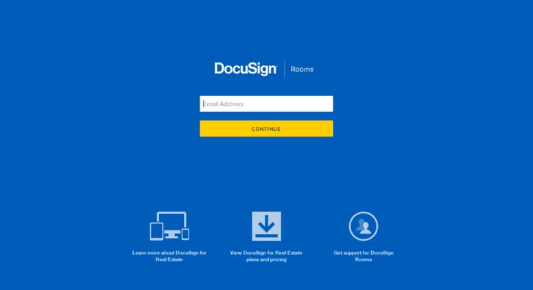 Access app.cartavi.com. Sign In › DocuSign Transaction Rooms