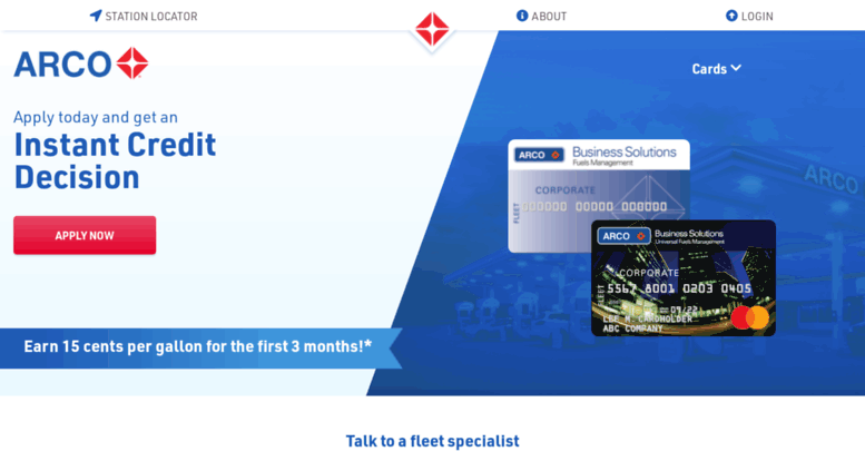 Access arcobusinesssolutions fleet fuel cards arco business arcobusinesssolutions screenshot colourmoves