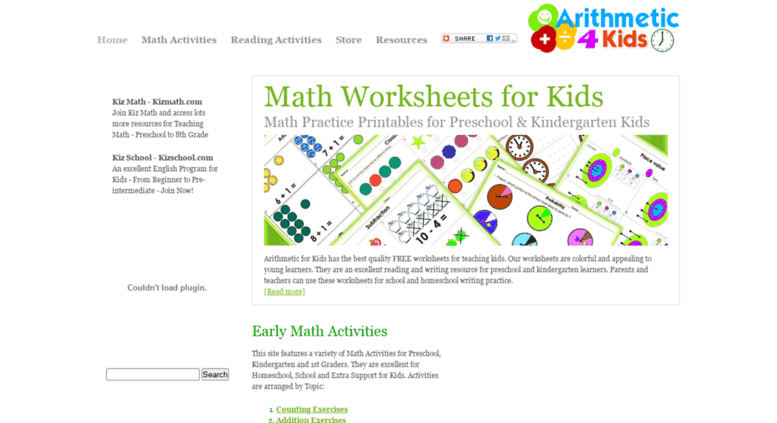 Access Arithmeticforkids Math Practice For Kidsworksheets