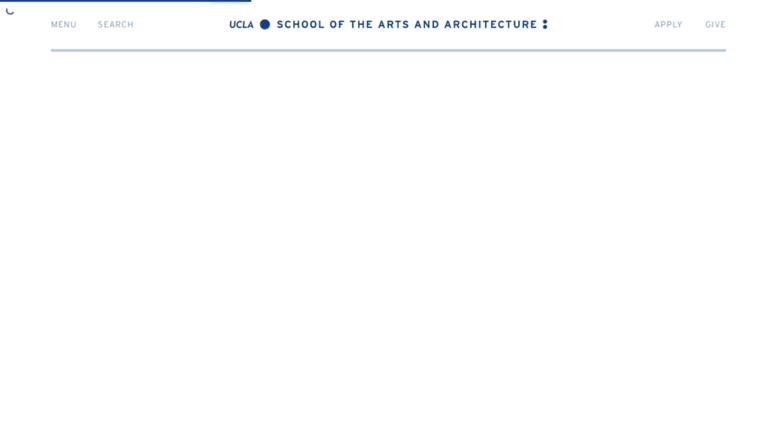 Arts.ucla.edu Screenshot