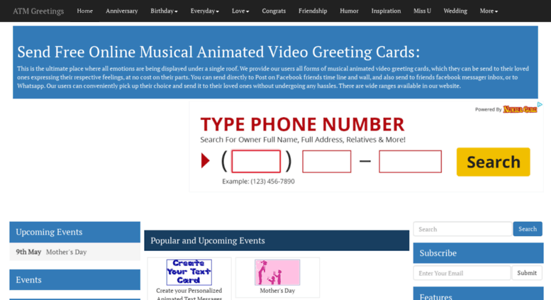 Access atmgreetings free online animated video greeting cards atmgreetings screenshot m4hsunfo