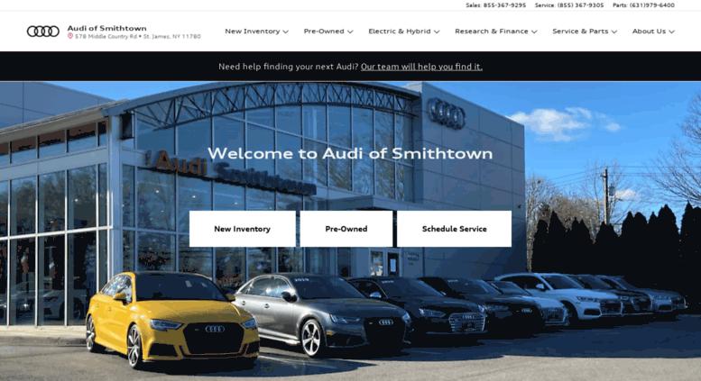 Access Audiofsmithtowncom New Audi PreOwned Luxury - Audi smithtown