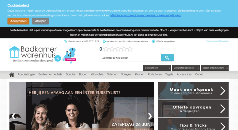 Access badkamerwarenhuis.nl. Badkamermeubels, sanitair & meer ...