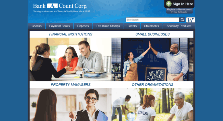 Access bank-a-count.com. Checks For Less, Payment Coupon Books
