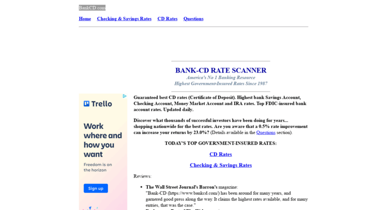 Access Bankcd Bank Cd Rate Scanner Best Cd Rates Certificates