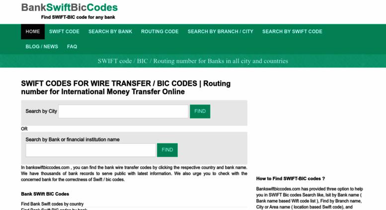 Access bankswiftbiccodes.com. www.bankswiftbiccodes.com | Swift-Bic ...