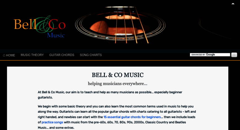 Access bellandcomusic.com. Bell & Co Music - Theory, Guitar Chords ...