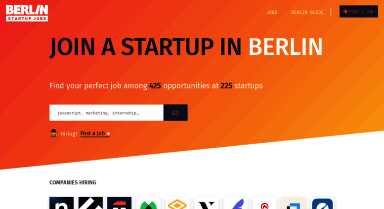 berlin startup jobs it jobs marketing internships sales freelance