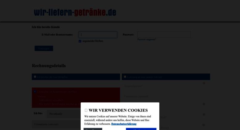Access bienenfleiss.wir-liefern-getraenke.de. Shop Startseite Standard