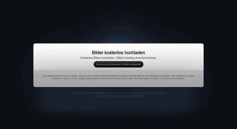 Access bilduploadr.de. bilder kostenlos hochladen - bilduploadr