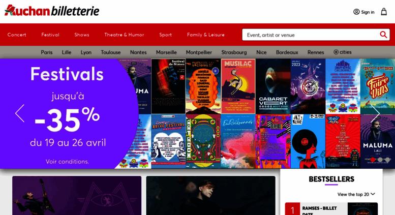 Access Billetterie.auchan.fr. Billetterie En Ligne Auchan. Concerts,  Spectacles, Sport, Parcs Du0027attraction, Musées