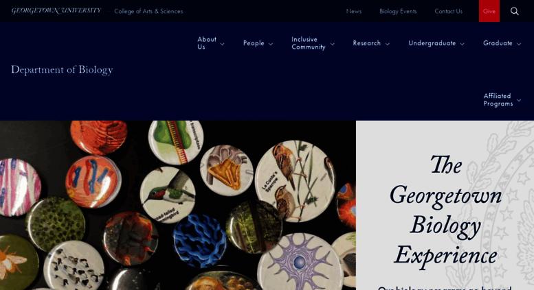 Access Biology Georgetown Edu Department Of Biology Georgetown