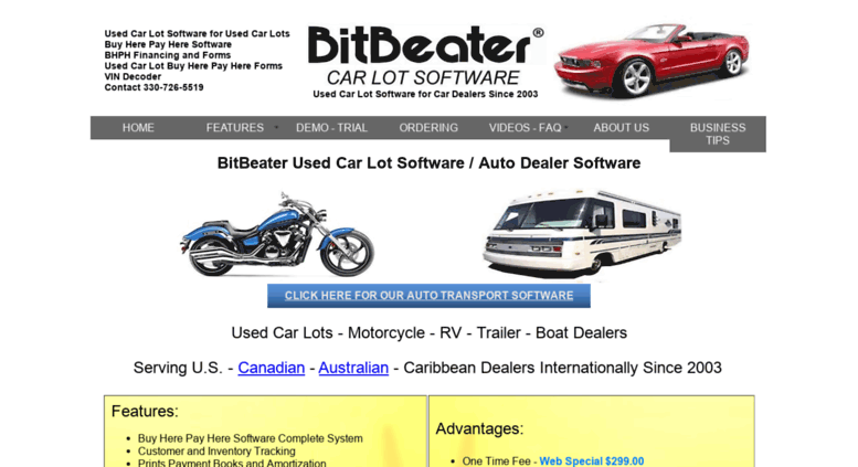 Access Bitbeater Com Used Car Lot Software For Dealer Inventory