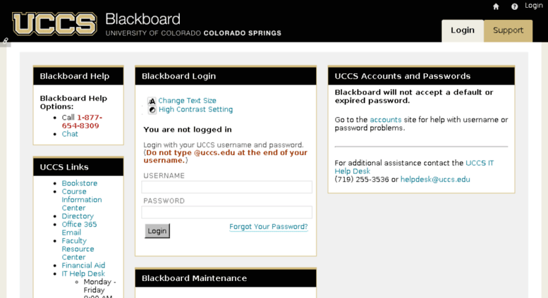 Blackboard.uccs.edu Screenshot