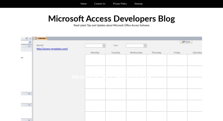 Access blogcess templates microsoft access templates and blogcess templates screenshot fbccfo Images