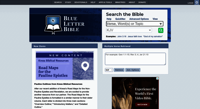 access blueletterbible. bible search and study tools - blue
