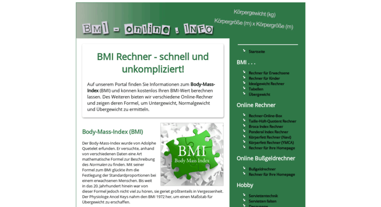 access bmi bmi rechner body mass index berechnen mit einfacher formel. Black Bedroom Furniture Sets. Home Design Ideas