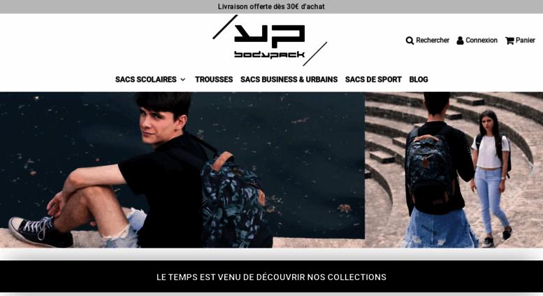 b73e029643 Access bodypack.fr. Bodypack : Vente de sacs et cartables scolaires, sacs à  dos, sacs de sport