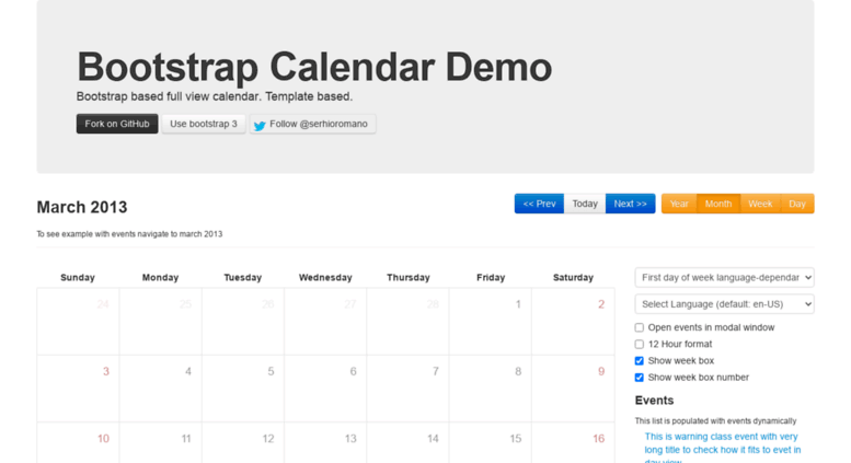 Bootstrap Calendar Template Choice Image Template Design Free Download