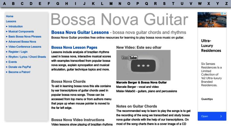 Access Bossanovaguitar Bossa Nova Guitar Chords Lessons Songs
