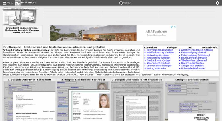 Access briefform.de. Briefform.de - kostenlose Musterbriefe ...
