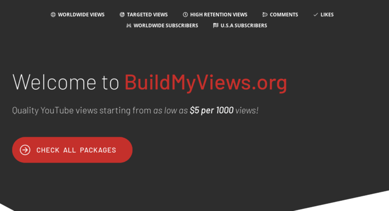 access buildmyviews org build my views 2 for 1000 youtube views