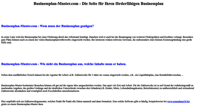 businessplan mustercom screenshot - Geschaftsplan Muster
