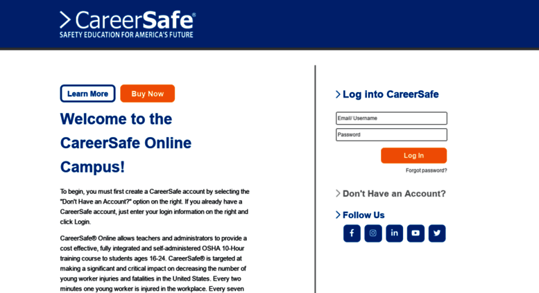 careersafecampus Access campus.careersafeonline.com. CareerSafe Campus :: Home