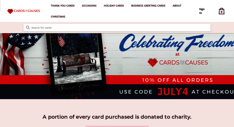 cardsforcausescom screenshot - Holiday Cards For Charity